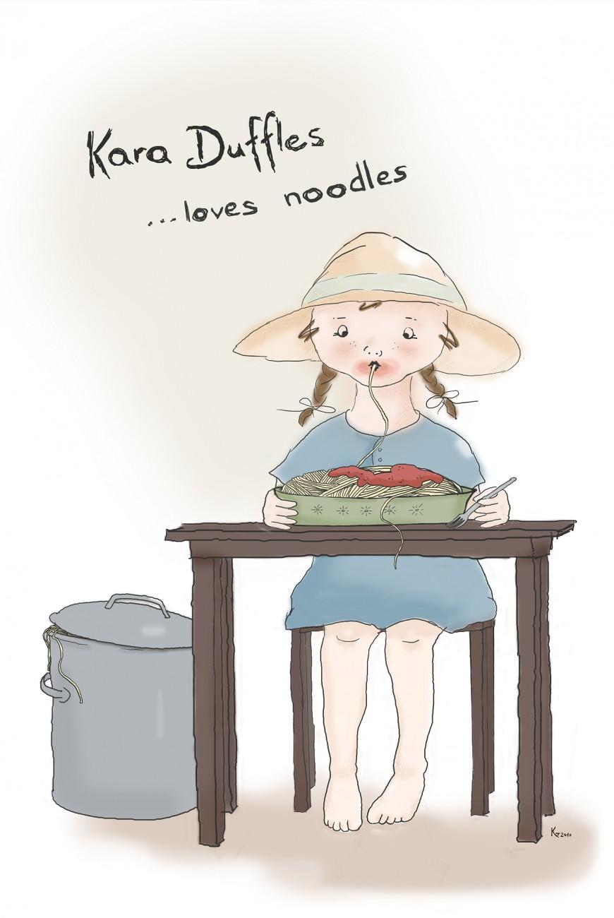 Kara Duffles loves noodles
